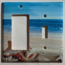 Ocean beach Seashell Light Switch Power Outlet wall Cover Plate Home Decor image 7