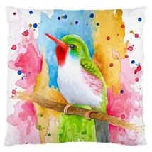 Pillow case Throw Pillow Cushion Case Bird 72 Blue Orange Orange art L.Dumas - $23.99+