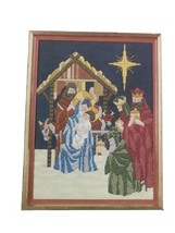 "Bucilla Christmas Nativity needlepoint canvas 14 x 18"" No Yarn - $16.53"