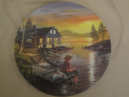 FISHING FOR DREAMS collector plate HIDEAWAY LAKE D.L. Rusty Rust CABIN L... - $29.02