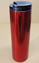 STARBUCKS COFFEE COMPANY 2015 RED STAINLESS STEEL COFFEE TUMBLER 16 oz LID - $38.17