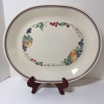 "Abundance Corelle Fruit Peach Grape Oval Serving Platter 12.25"" x 10"" - $19.34"