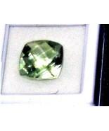 Green Amethyst Prasiolite  cushion checkerboard cut 2 loose gems 12 mm x... - $73.44