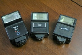 3-Vintage camera flash attachments Vivitar > Lenmar  - $14.85