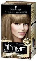 Schwarzkopf Color Ultime Hair Color Cream, 7.0 Dark Blonde Packaging May Vary