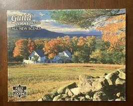 Vintage Guild 1000 PcPuzzle Moat Mountain New Hampshire Farmhouse 22X28 - $12.77