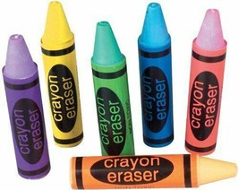 "Crayon Shaped Erasers (36 Pack) Assorted Colors 2.5"" - $9.49"
