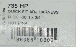 Valhoma 735 HP 3/4 inch Quick Fit Adjustable Dog Harness Hot Pink Medium Nylon image 3