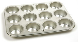 NORPRO 3770 Heavy-Duty Gauge Tin Muffin Cupcake Pan 12 Cup - $297,53 MXN