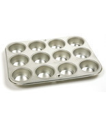 NORPRO 3770 Heavy-Duty Gauge Tin Muffin Cupcake Pan 12 Cup - £11.54 GBP