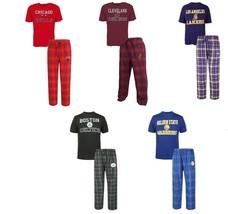 NBA Men's Halftime Sleep Set Tee Shirt Pants Lounge Pajamas Basketball NEW