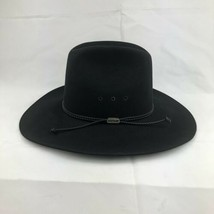 Stetson Western Cowboy Hat 4X Beaver Pelt Tyler Style Black Color Size 7... - $78.20