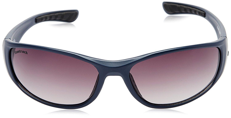 Fastrack Wrap Unisex Sunglasses - (P120BK2|65|Blue)