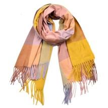 Winter Women Scarf Luxury Cashmere Plaid Fashion Lady Tassel Bandana War... - $20.89