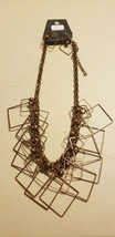 Paparazzi Short Necklace & Earring set (new) #705 GEOMETRIC - COPPER - $7.61