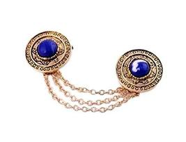 Angle Collar Shirt Collar Pin Collar Chain Brooch Decoration, Sapphire