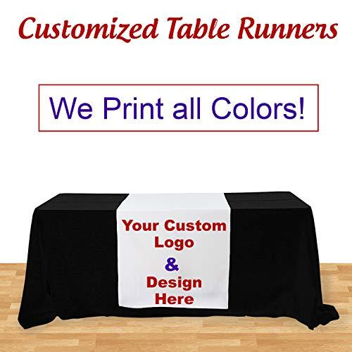 Customize Table Runner Cloth Using Your Text and Logo for Business, Trade Shows,