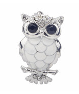 Stunning Diamonte Silver Plated Vintage Look OWL Christmas Brooch Cake P... - €13,90 EUR