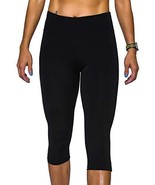 Rocorose Women's Yoga Capri Tights High Waist 4 Way Stretch Zip Pocket L... - $16.88