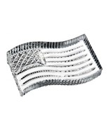 Waterford Crystal American Flag Paperweight NEW IN THE BOX - $70.11