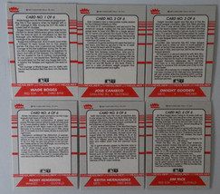 1987 Fleer Headliners Inserts Set of 6 Baseball Cards image 2
