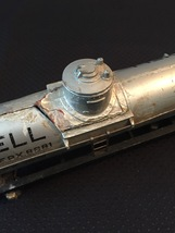 American Flyer Railroad Car #625 - Shell silver dome tank car (for parts) image 2