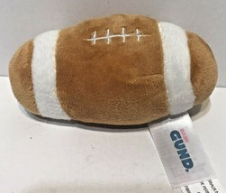 "Baby Gund Mini 5"" Football Rattle Plush Stuffed Mini Soft Toy Brown White - $11.61"
