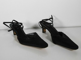 Ann Taylor Loft Satin Beaded Sequined Ankle Wrap Strap Womens Cocktail Heels 8.5 - $11.88