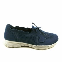 Skechers Womens Seager In A Knit Washable Scallop Knit Sneaker Shoes Nav... - $34.64