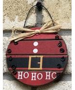 Ho Ho Ho Santa Ball Wood  Ornament  - $2.95