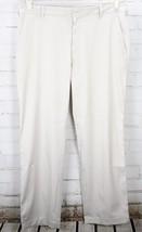 Nike Golf Tech Golf Dress Pants Flat Front Men's Size 36x30 G Ivory Dri-Fit  - $44.55