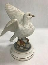 Vintage White dove by Andrea Sadek Japan 9 inch signed bird figurine - $39.59