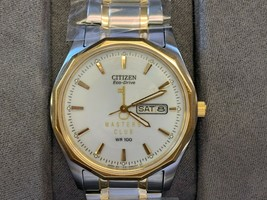 "NEW Citizen Men's Gold and Silver Watch Model E101-S053439 ""MASTER'S CLUB"" - £76.38 GBP"