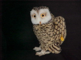 "13"" Steiff Studio Owl Plush Toy With Number 2593/28 Read Full Item Descr... - $98.99"