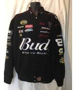 Dale Earnhardt Jr. JH Design Black Budweiser Twill Jacket Men's Chevy NA... - $148.49