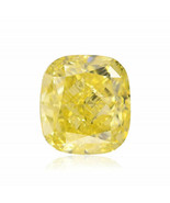 1.23Cts Fancy Intense Yellow Loose Diamond Natural Color Cushion Cut GIA... - $8,613.00