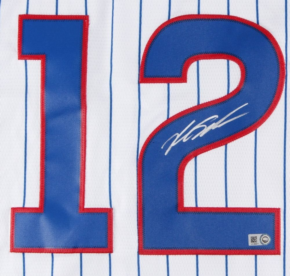 KYLE SCHWARBER / CHICAGO CUBS / AUTOGRAPHED CHICAGO CUBS MLB LOGO JERSEY / COA