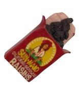 Vintage Pin Sunmaid Raisins California Seedless Handpainted mini plastic... - $14.84