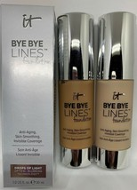 IT Cosmetics Bye Bye Lines Foundation Drops of Light NIB Light Rich or Fair - $29.00