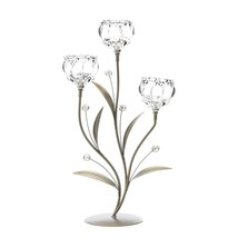 Crystal Flower Triple Candle Holder - $50.78