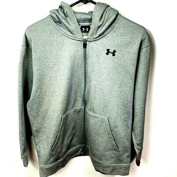 Primary image for Under armour zip up hoodie sweatshirt YXL (youth xl )
