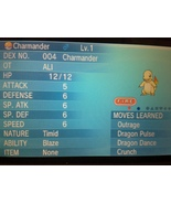 Pokemon ORAS X Y Perfect 6IVs Kalos Born Shiny Charmander - $2.00