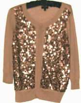 WOMEN'S BROWN SPARKLE FRONT CARDIGAN SIZE SP - $9.99