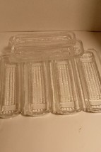 VINTAGE CORN ON THE COB DISHES/HOLDERS-LOT OF 6 CLEAR PRESSED GLASS - $48.33