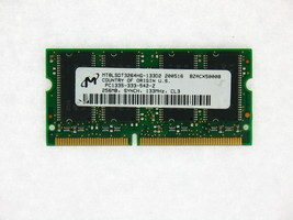 MT8LSDT3264HG-133D2 256MB 144p PC133 CL3 8c 16x16 SDRAM SODIMM TESTED