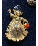 Lot of Two Gold Tone Halloween Pins (2119) - $7.50