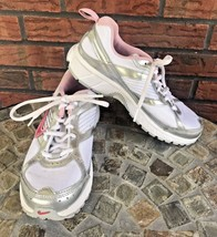 Nike Dart Shoes Size 4.5Y Running Workout Sneakers Pink White Silver Tra... - $24.75