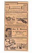 1932 LAWNDALE PRESS PHILADELPHIA NEWSPAPER THEATER MOVIE AD-L@@K! - $8.90