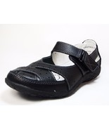 Spring Step Streetwise Leather Sandals - Wide Width Black Size 37W (US:6... - $38.69
