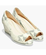 Cole Haan Grand Ambition Open Toe Wedge -  Ivory Python, Size 5.5 W [W19... - $114.99
